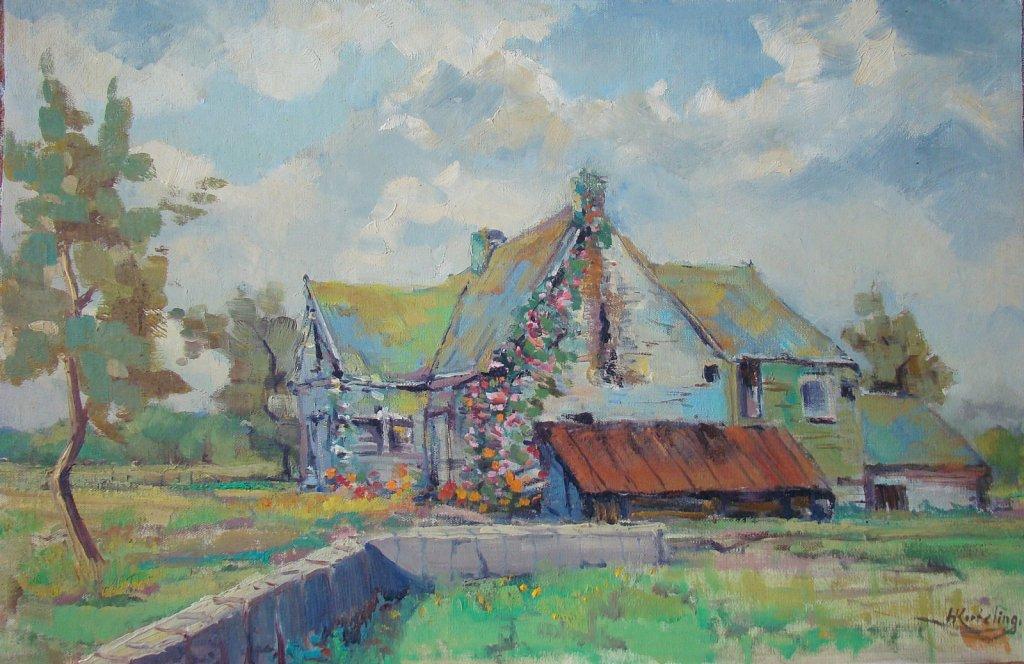 Landschap schilderijen Hendrik